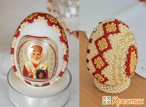 Пасхальный яйца из бисера