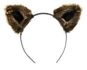 Ободок с меховыми ушами