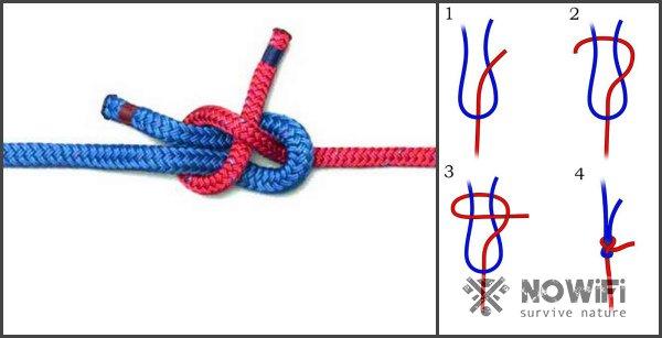 схема вязания шкотовый морской узел