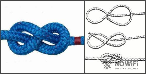 схема вязания морского узла восьмерка