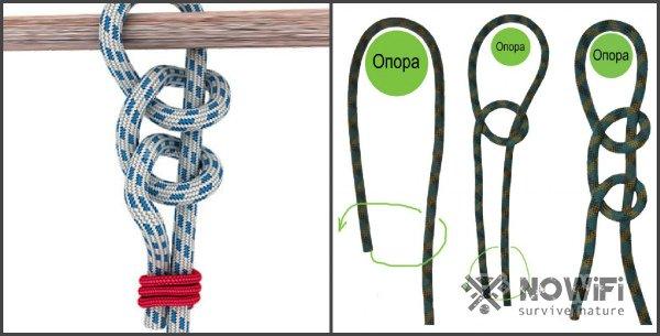 схема вязания морского узла простой штык