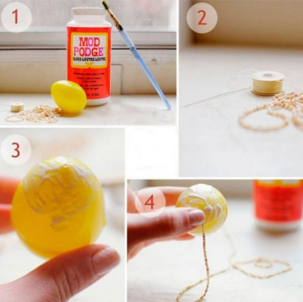 Пасхальное яйцо. Идеи поделок в форме яиц в разных техниках исполнения этап 17