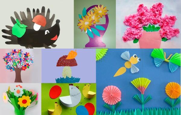 Объемные аппликации из бумаги. Мастер класс своими руками для начинающих, схемы и шаблоны для детей к новому году, 8 марта, дню учителя, матери, цветы