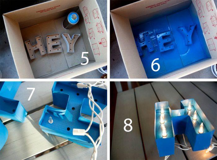 Светящиеся 3D буквы мастер-класс