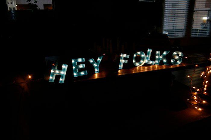 Светящиеся 3D буквы
