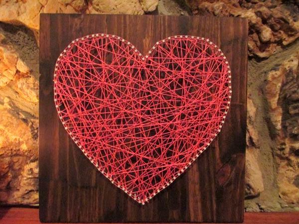 Панно в форме сердца