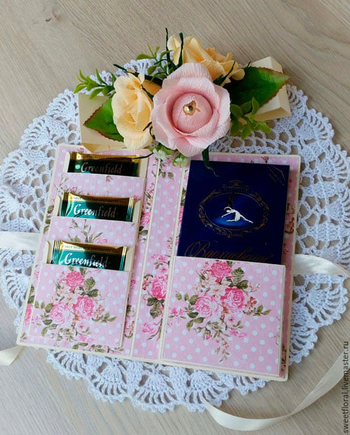 Декоративная упаковка шоколадки