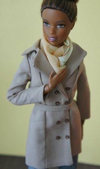 Шьем пальто для куклы Барби
