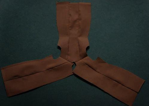 Сшиваем детали из основной ткани
