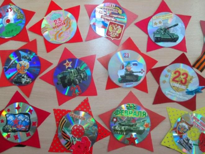 Медали из дисков с картинками