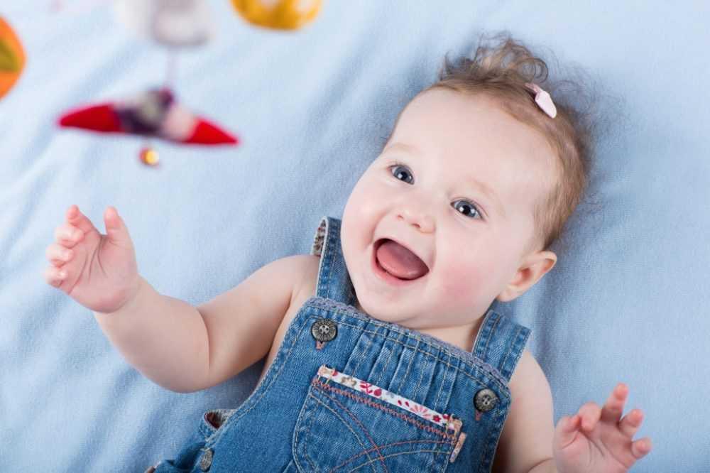 ребенок радуется в 5 месяцев