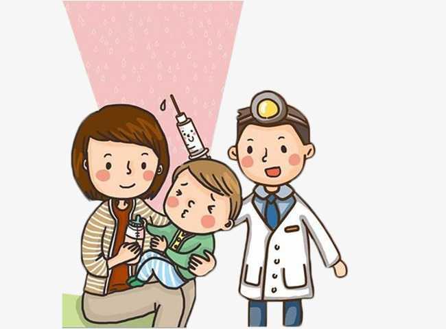 малышу врач делает прививку