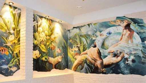 Преимущества художественной росписи стен